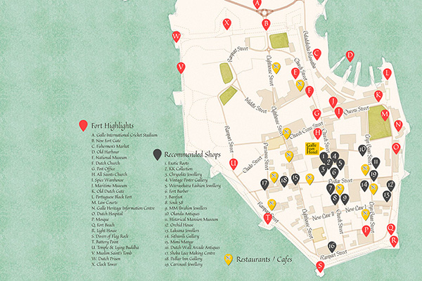 map design for galle fort hotel